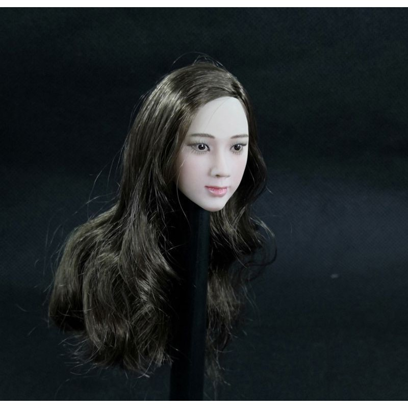 1/6 Scale Beauty Female Head Sculpt Carving Asian Movie Star Daiwenwen Head Carved Model