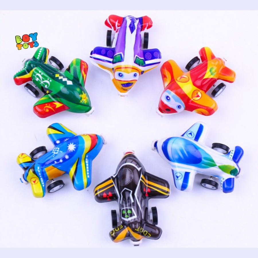 Đồ chơi máy bay mini chạy đà nhiều màu sắc cho bé thỏa thích vui