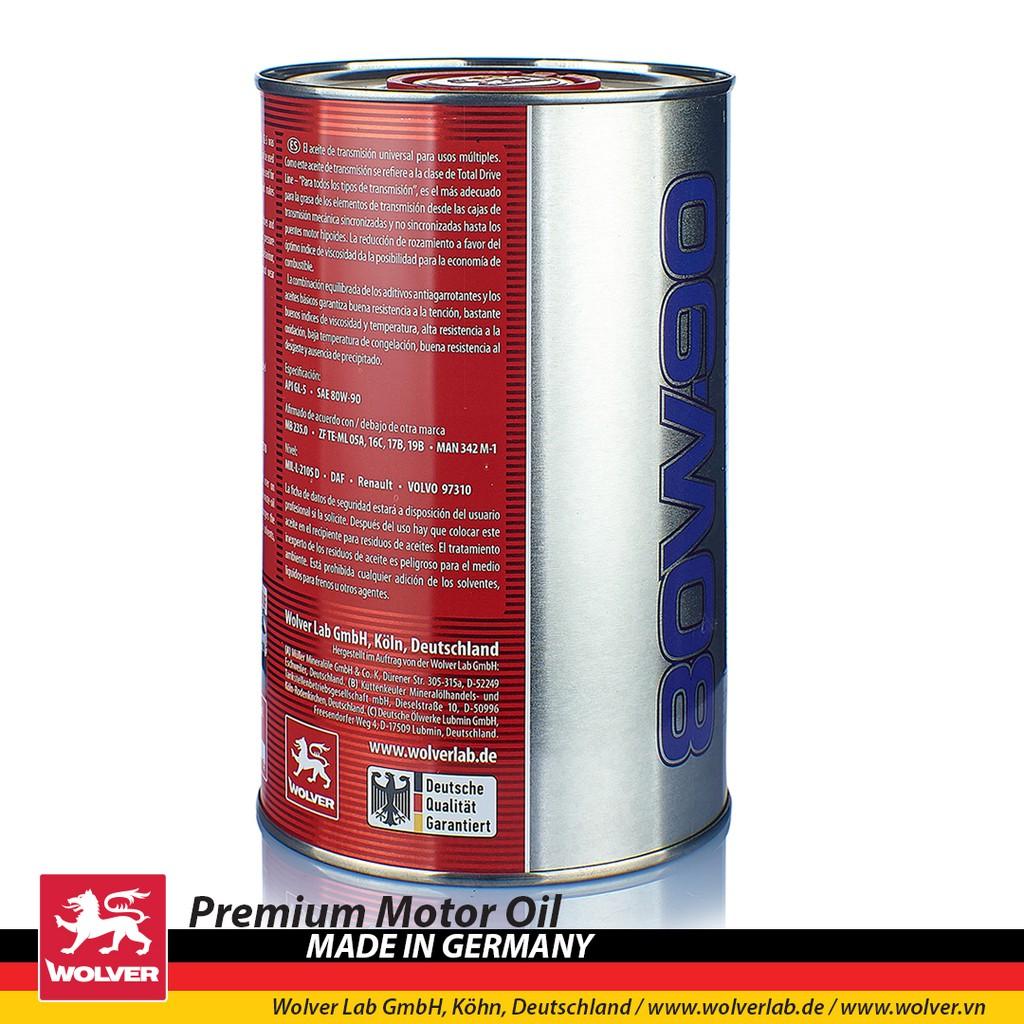 Nhớt láp (hộp số) Wolver Gear Oil 80W90 1 lít GL-5