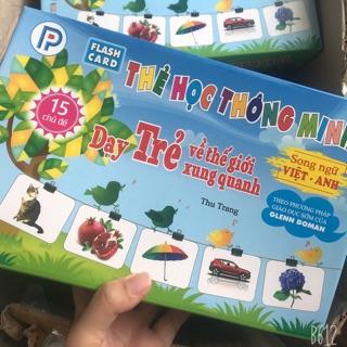 Thẻ học thông minh loại to 15 chủ đề cho bé