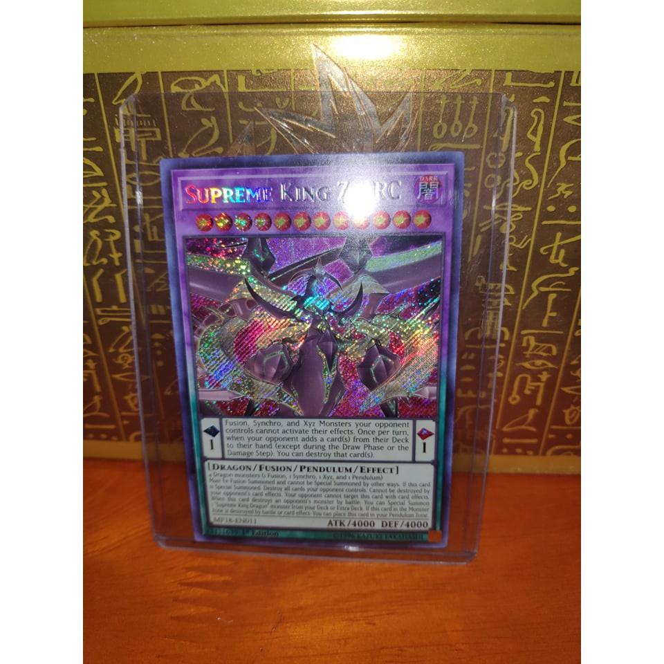 Lá bài thẻ bài Yugioh Supreme King Z-ARC - Secret Rare - Tặng bọc bài nhựa bảo