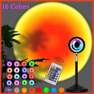 Đèn hoàng hôn 16 màu 💕FREESHIP💕 Cầu Vồng có điều khiển LED RGB – Sunset lamp sống ảo chụp ảnh quay video tiktok