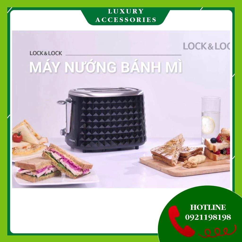 Máy Nướng Bánh Mì Mini Lock&Lock công suất 850W Màu đen EJB222BLK (hàng bảo hành chính hãng 12 tháng) (thanh lý)