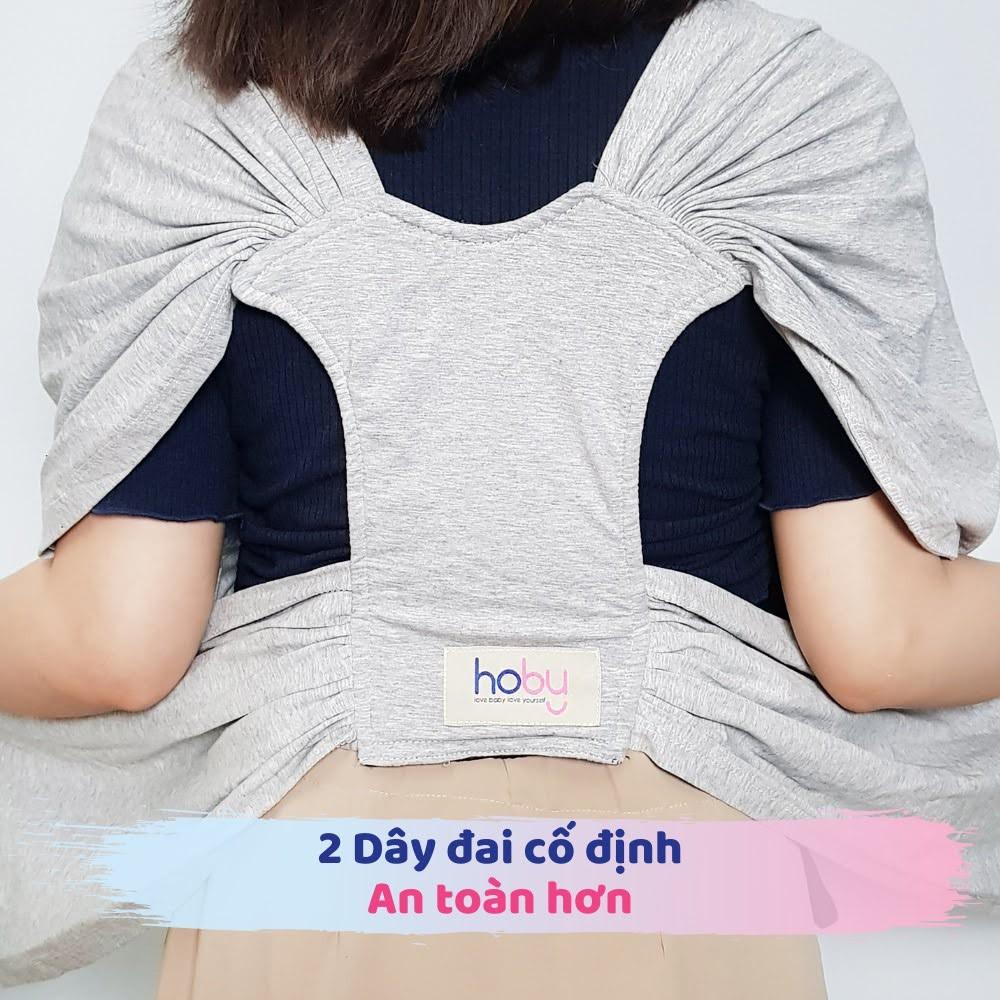 Địu vải Sling cho bé Hoby X - Địu vải cotton 100% dành cho trẻ sơ sinh - Thoáng khí, an toàn cho da bé [Hoby.vn]