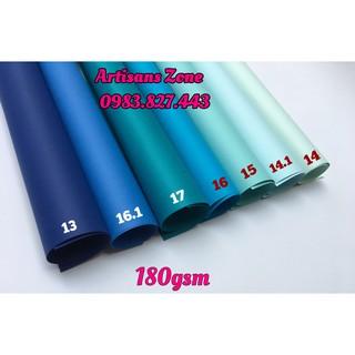 Giấy mỹ thuật tông màu xanh dương – Khổ A3 (combo 7 tờ)