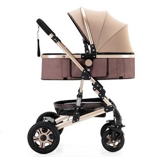 [Trợ giá] Xe đẩy xe nôi đi bộ cho bé cao cấp BELECOO 2 chiều 3 tư thế nôi tháo rời có giảm sóc bánh hơi thumbnail