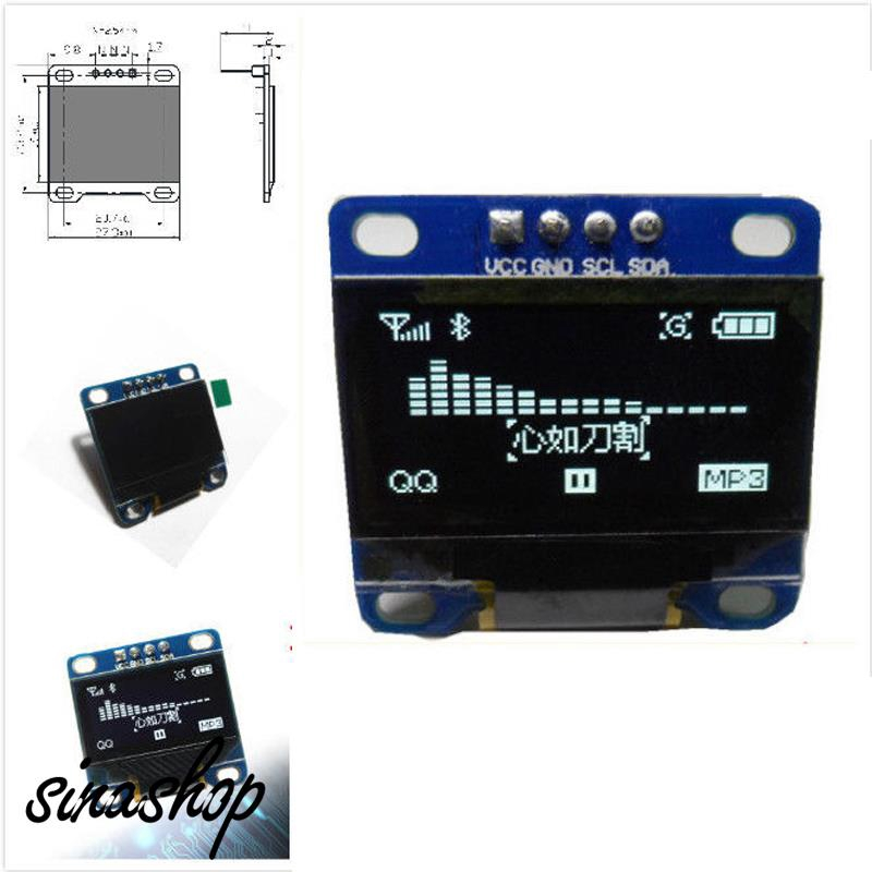 OLED LCD LED Display Module IIC SPI Circuit Board 4pin 0.96 Inch Double Color