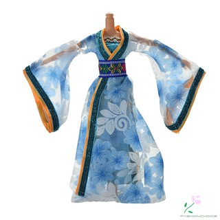Classicalchinesedres Annual updates Ancient costume Princess Barbie doll clothes dress in the joint body suit belt coat