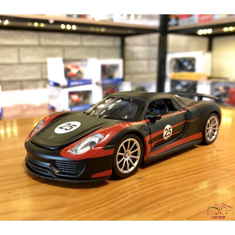 Mô Hình Xe ô Tô Porsche 918 Martini Tỉ Lệ 132 Màu đen Chỉ