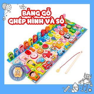 Đồ chơi thông minh GIÁ SỐC Đồ chơi câu cá và ghép chữ số học đếm 36 chi tiết thông minh bằng gỗ cho bé - 9650 thumbnail