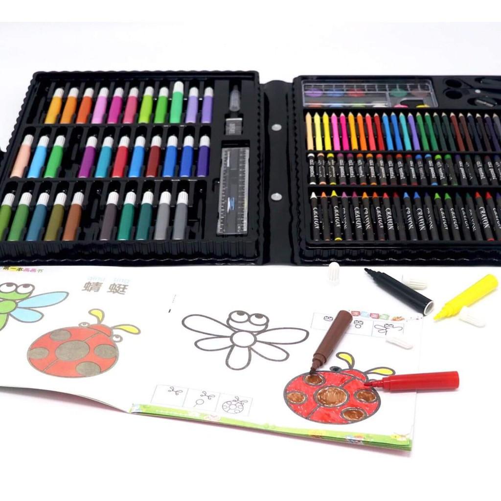 Bộ Bút Màu Học Vẽ Cho Bé 150 Món Cao Cấp