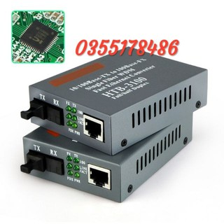 Bộ Converter quang 1 sợi Netlink HTB- 3100 AB-25km hàng cao cấp