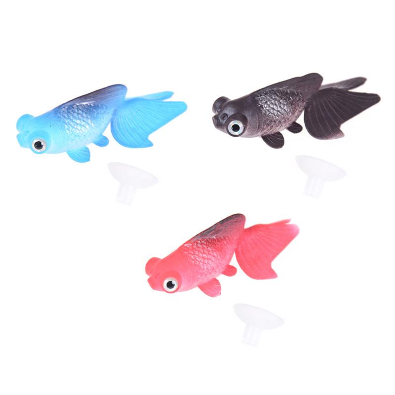 Artificial Silicone Swim fish Toy Pet Fish Fishing Tank Decoration