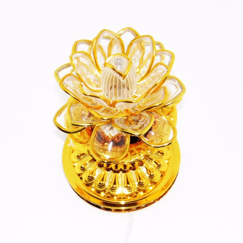 Đèn LED trang trí hoa sen viền vàng LED- 0001A