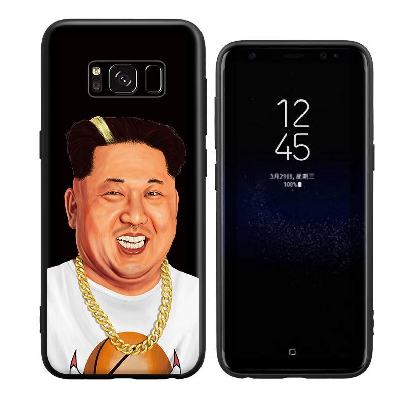 Ốp lưng bảo vệ in hình Kim Jong thời trang cho điện thoại Samsung S6 S7 S8 S9 Edge Plus Note 3 4 5 8 9