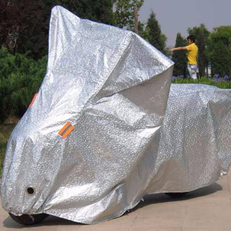 Áo trùm xe máy lớp PVC chống nắng che mưa bạt trùm xe máy 3D tráng nhôm cách nhiệt 3 lớp bạt phủ xe máy