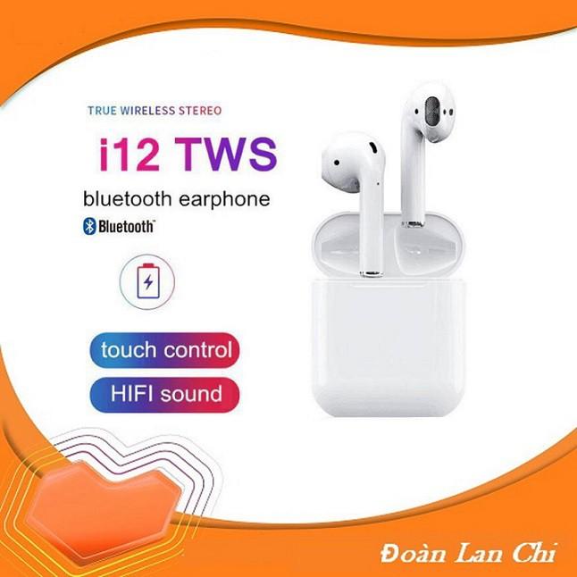 [ GIÁ HUỶ DIỆT] Tai Nghe Bluetooth 5.0 i12 TWS [CẢM ỨNG VÂN TAY] (Màu trắng)
