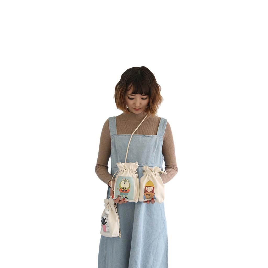 Túi Nhỏ Nữ Sinh Phong Cách Nhật Bản Vải Bố XinhStore