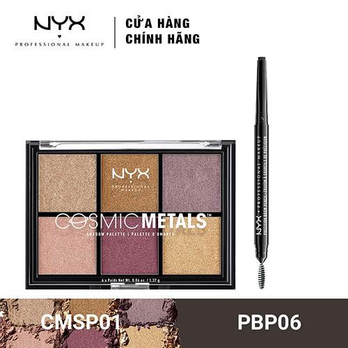 Bộ đôi Chì kẻ mày & Bảng phấn mắt NYX Professional Makeup (PBP06 + CMSP01) _ TUNX00042CB