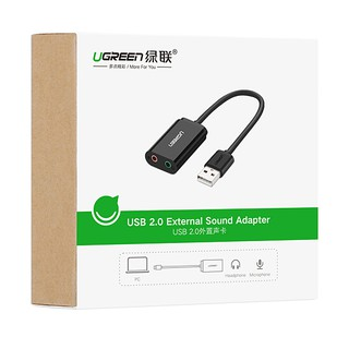 [Mã ELORDER5 giảm 10K đơn 20K] Card sound USB 2.0 to 3.5mm Ugreen 30724