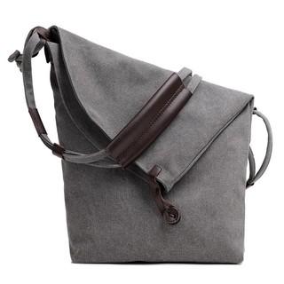 Vintage Cross Body Messenger Bags Large Capacity Shoulder Bag(gray)