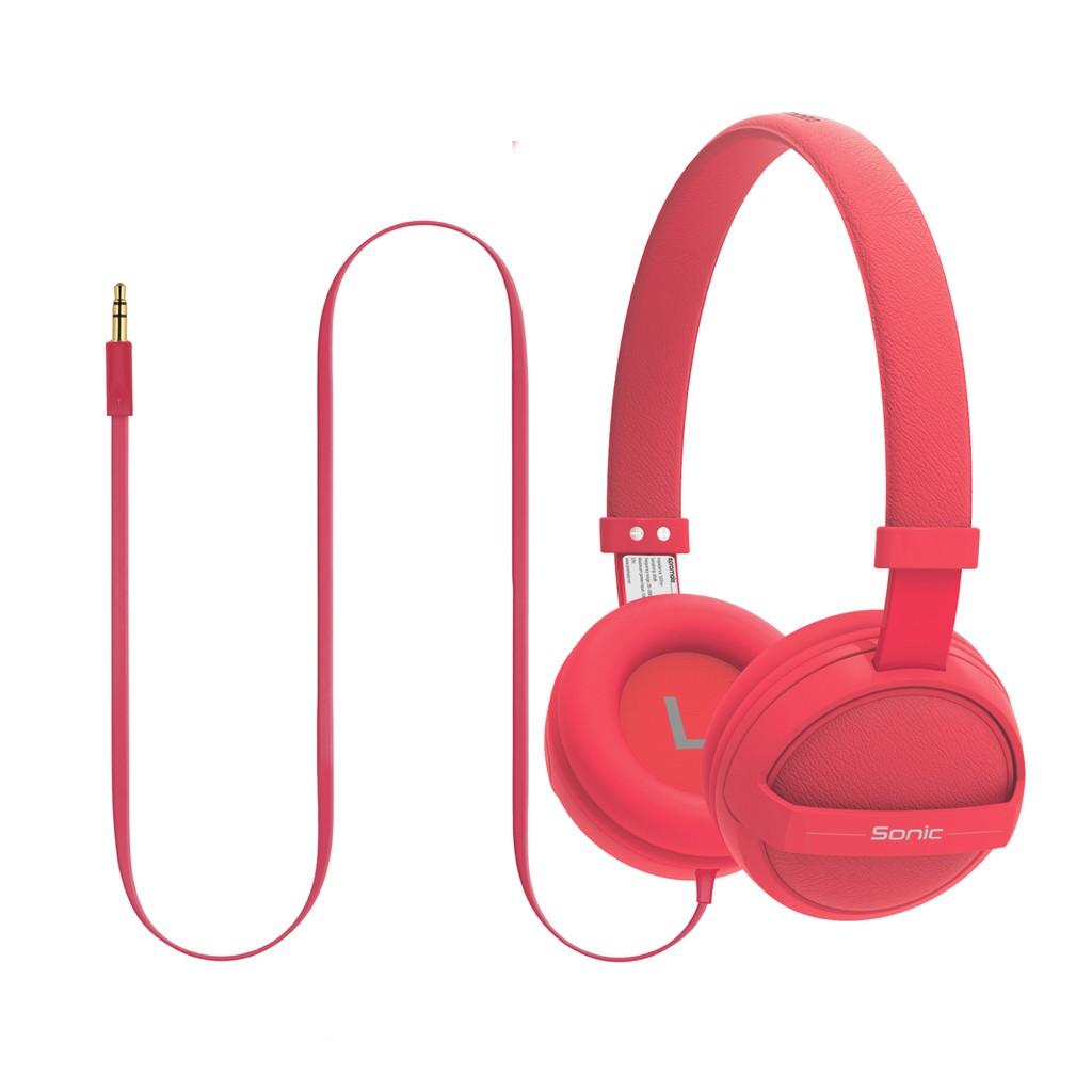 Tai nghe On-Ear Promate Sonic bọc đệm mềm (Đỏ)