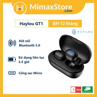 Tai nghe Bluetooth True Wireless Haylou GT1 Hàng Chính Hãng Bảo Hành 12 Tháng thumbnail