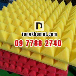 Mút kim tự tháp chống cháy 50x50x5cm tiêu âm - cách âm tỉ trọng cao dùng cho phòng thu