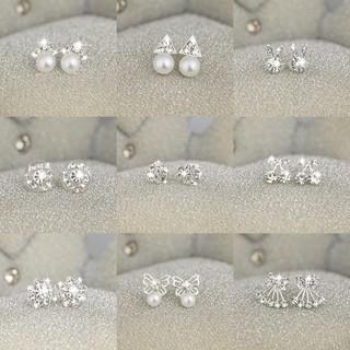 Bông tai nữ Hàn Quốc bông tai nữ dễ thương khuyên tai nữ cá tính bông tai đẹp cá tính hoa tai nữ khuyên nụ