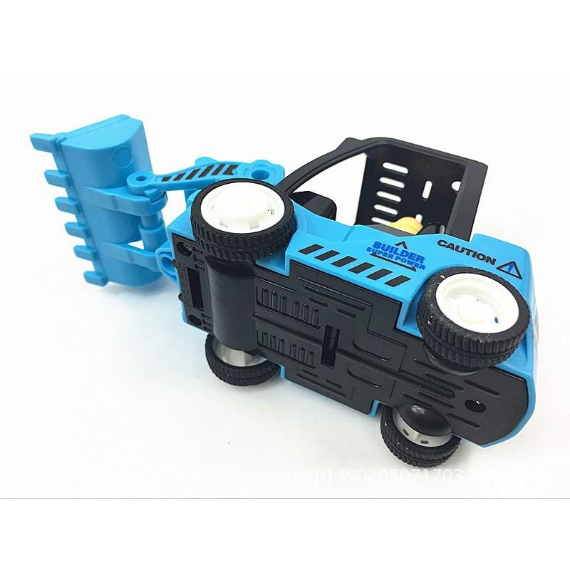 Đồ chơi chạy đà mô hình máy xúc, máy ủi cho bé trai