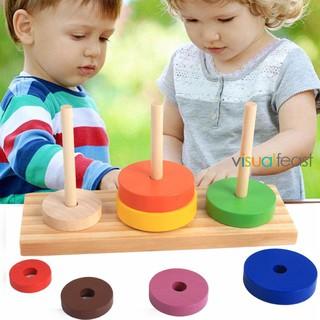 Bộ đồ chơi tháp toán học bằng gỗ thú vị cho bé