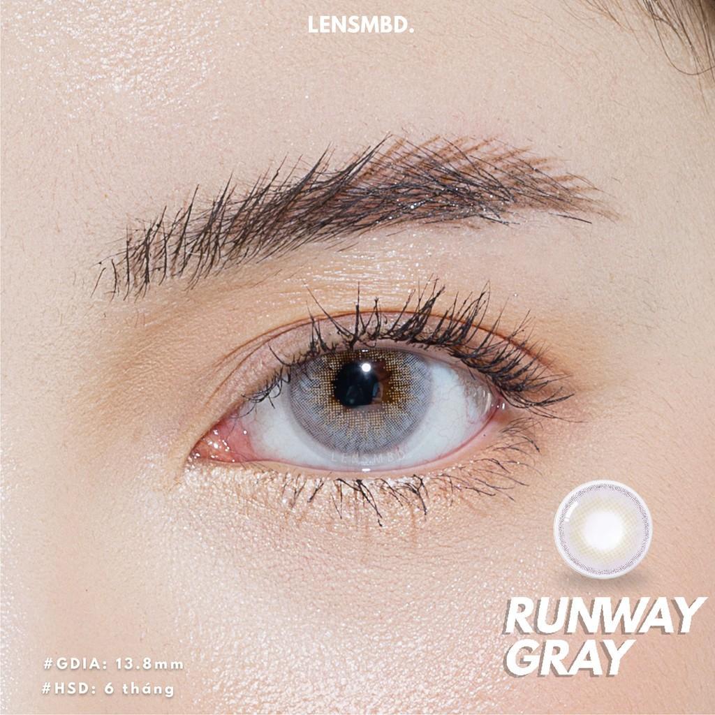 ☄✲Kính áp tròng xám sáng tây cực chất Runway Gray LENSMBD