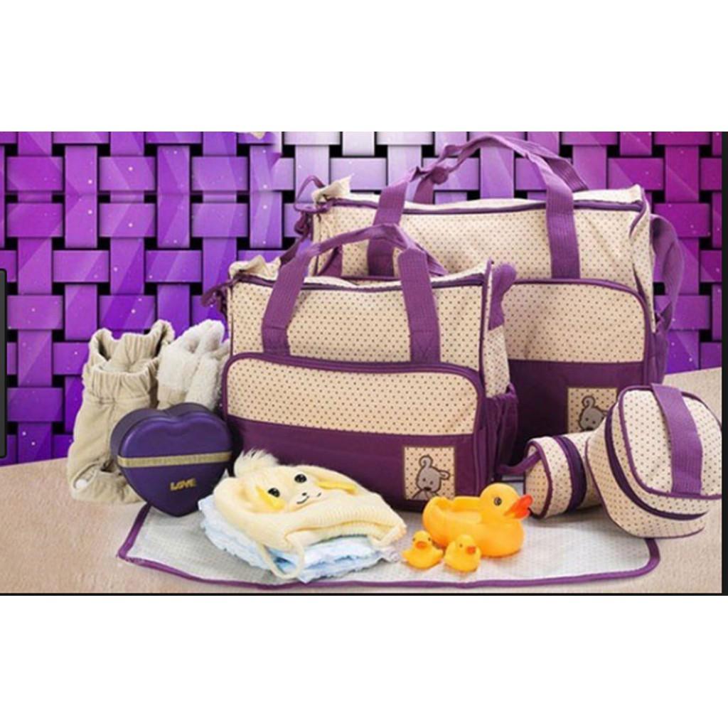 Túi đựng đồ cho mẹ và bé 5 chi tiết - 3534931 , 799219820 , 322_799219820 , 399000 , Tui-dung-do-cho-me-va-be-5-chi-tiet-322_799219820 , shopee.vn , Túi đựng đồ cho mẹ và bé 5 chi tiết