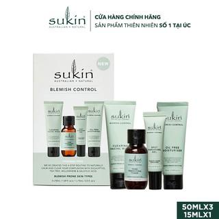 Hộp Quà Sukin Pack Blemish Control Cho Da Mụn Sữa Rửa Mặt 50ml + Toner 50ml + Gel Chấm Mụn 15ml + Dưỡng Ẩm 50ml thumbnail
