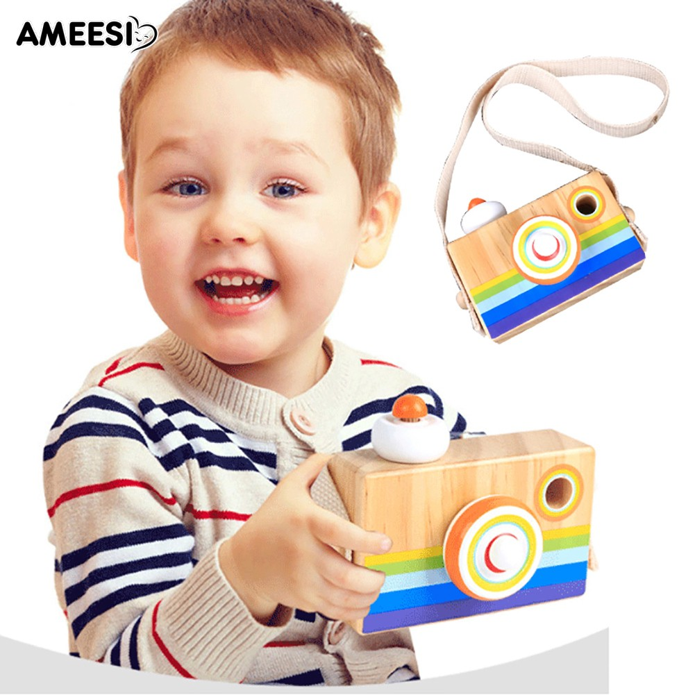 🔅🔆AMEESI  Funny Wooden Camera Toy Early Education Baby Birthday Gift