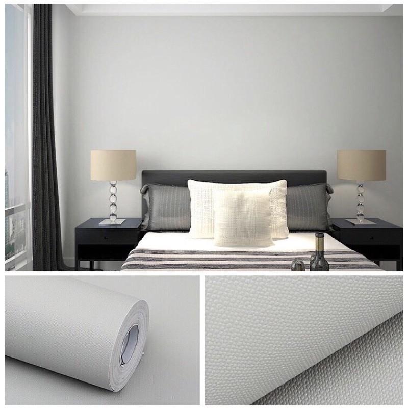Giấy dán tường 10M x 45CM giấy dán tường sẵn keo dán phòng khách giấy dán tường màu trơn giấy dán tường màu pastel