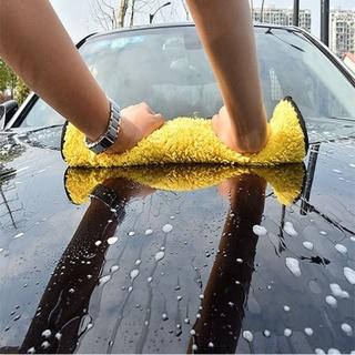 Khăn lau xe hơi màu vàng 2 lớp cao cấp siêu sạch siêu thấm hút SJV-014 3