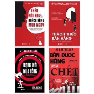 Sách - Combo 4 cuốn Sát Thủ Bán Hàng :Trạng thái mua hàng ,Bán được hàng hay là chết , Thách thức bán hàng ,Khéo Nói Hay