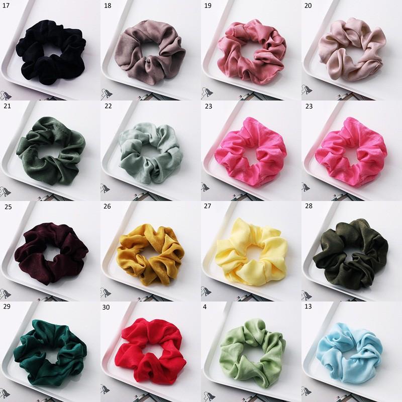 Nhập WAFACB20K giảm 20K cho đơn từ 99K_Thun buộc tóc vải lụa bóng thời trang nữ