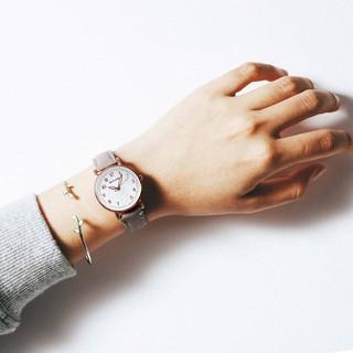 Đồng hồ thời trang nữ Mstianq MS04 mặt số cực đẹp, dây da lộn êm tay, 5 màu dể dàng phối màu, phong cách Hàn Quốc
