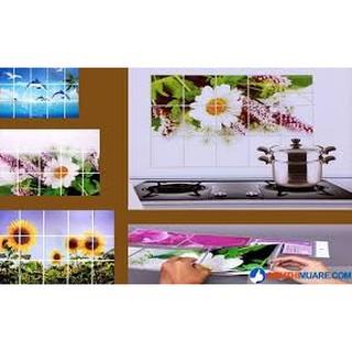 Chuyên sỉ Tranh- Giấy dán tường nhà bếp cách nhiệt chống bám bẩn- dễ lau sạch sẽ 60-90cm