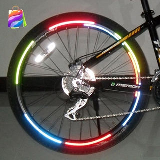 Fluorescent MTB Bike Bicycle Sticker Cycling Wheel Rim Reflective Stickers Decals JP