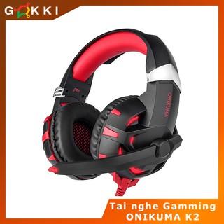 Tai nghe chụp tai chuyên game âm thanh 7.1 visual ONIKUMA K2 – gamming – gamer – game thủ – tai nghe trùm tai