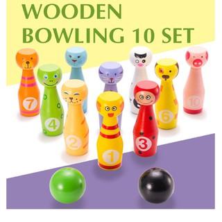 Đồ chơi gỗ bộ bowling động vật