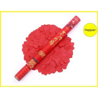 Pháo hoa giấy màu hồng trái tim (loại 80cm) – Happier