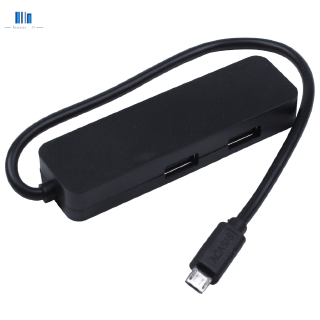 Acasis H032 4 Ports Otg Micro-Usb Hub Usb2.0 Adapter 1.5A Charging Cable Charging Power Transmisson Cable Splitter