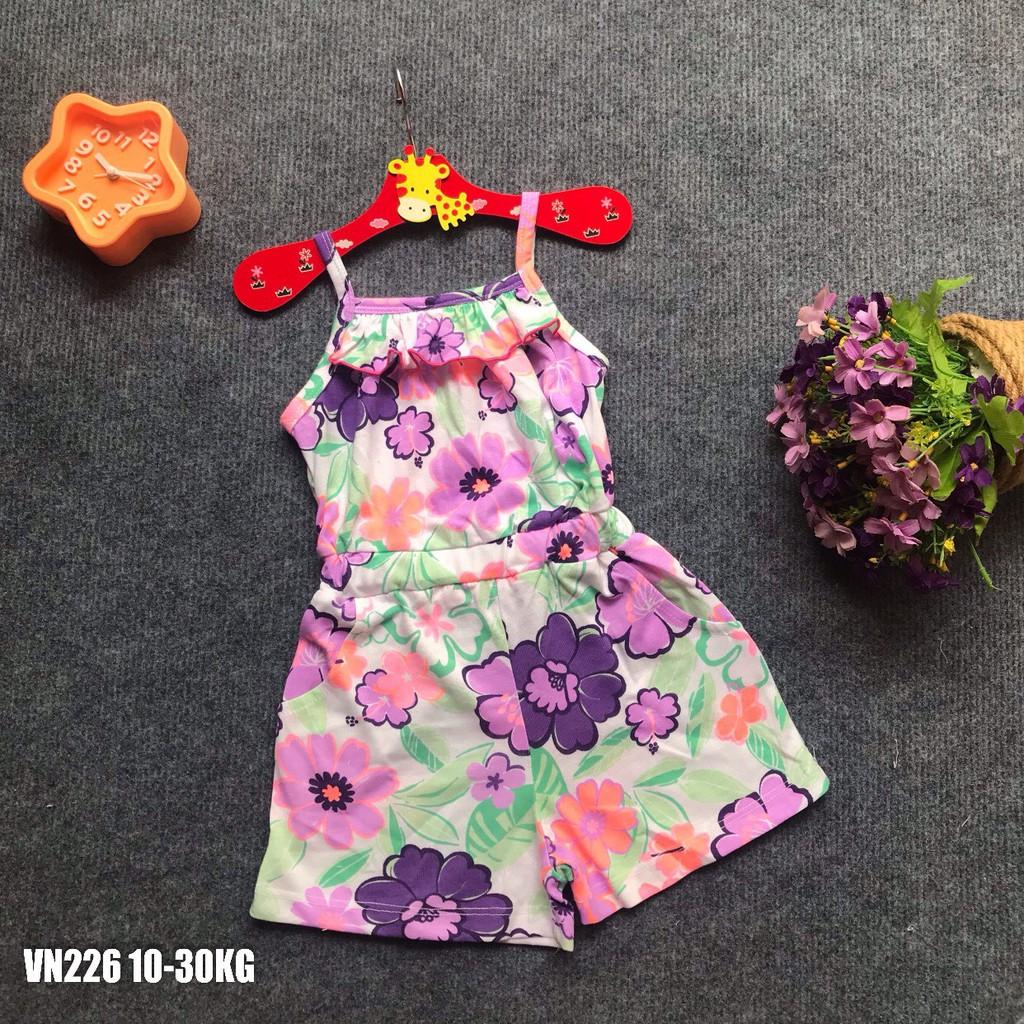 Playsuit Bé Gái, Cotton, Hoạ Tiết Siêu Đẹp, Có Size Từ 8-28KG