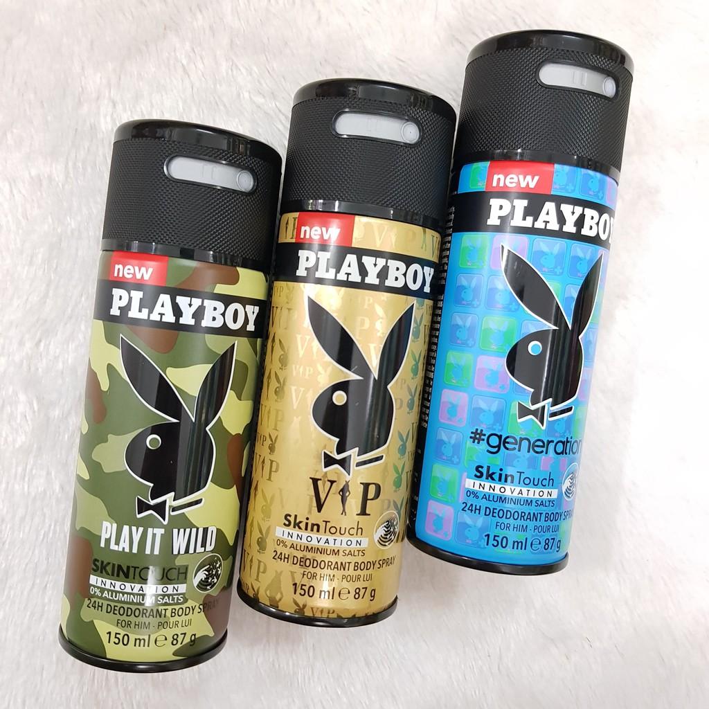 [BÁN SỈ] Chai Xịt Khử Mùi Toàn Thân Nam Playboy Skin Touch - 3296865 , 787354503 , 322_787354503 , 60000 , BAN-SI-Chai-Xit-Khu-Mui-Toan-Than-Nam-Playboy-Skin-Touch-322_787354503 , shopee.vn , [BÁN SỈ] Chai Xịt Khử Mùi Toàn Thân Nam Playboy Skin Touch