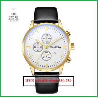 Đồng hồ nam Cuena FreeShip Dây da, thiết kế mỏng kèm lịch cao cấp - Đồng hồ Cuena Hàng chính hãng BH 6 tháng thumbnail