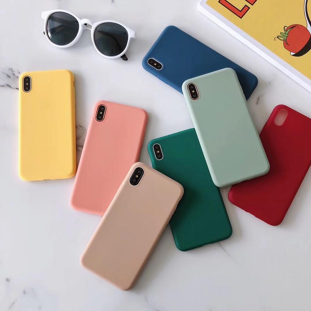 Ốp iphone - Ốp lưng dẻo màu trơn